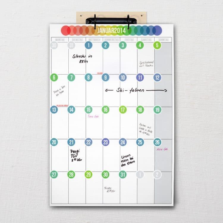 """Kalender """"Pünktchen"""""""