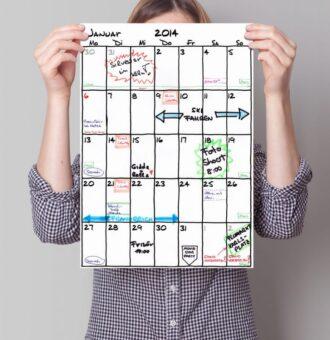 Kalender DIN-A3 'Sketch' | Fünf vor Zehn