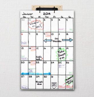 Kalender DIN-A3 'Sketch' mit Ringbuchmechanik | Fünf vor Zehn