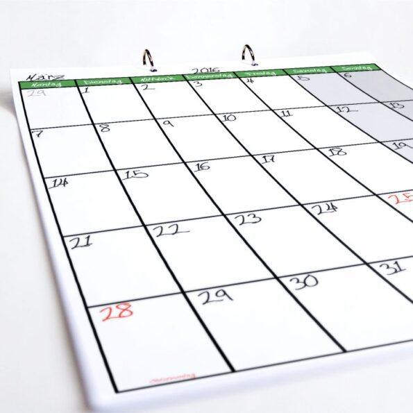 Tischkalender Terminator grün | Fünf vor Zehn