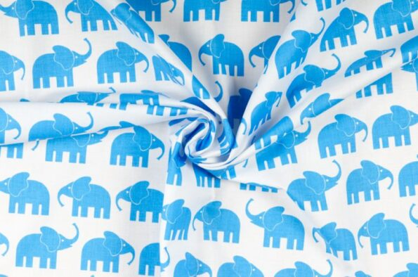 "Zugluftstopper ""Elefant blau""   Fünf vor Zehn"