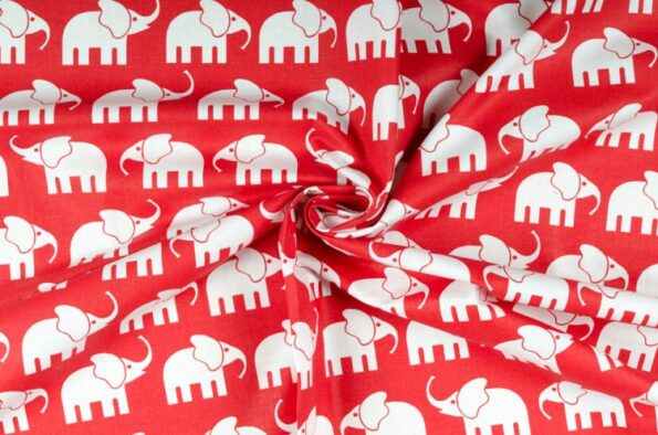 """Zugluftstopper """"Elefant rot""""   Fünf vor Zehn"""
