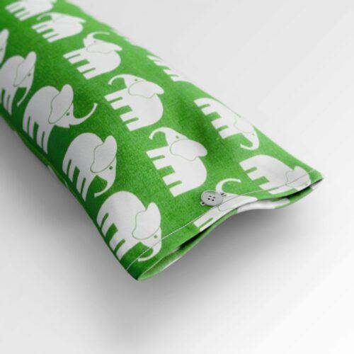 "Zugluftstopper ""Elefant grün""   Fünf vor Zehn"