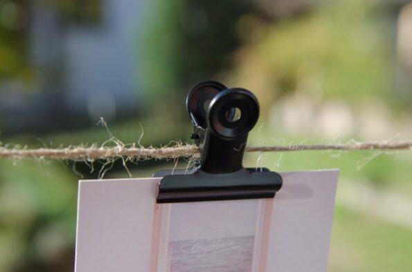 Metallclip 50mm schwarz   Fünf vor Zehn