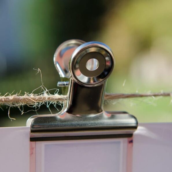 Metallclip 50mm silber | Fünf vor Zehn