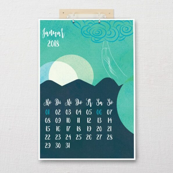 "Kalender DIN-A3 ""Traumfänger""   Fünf vor Zehn"