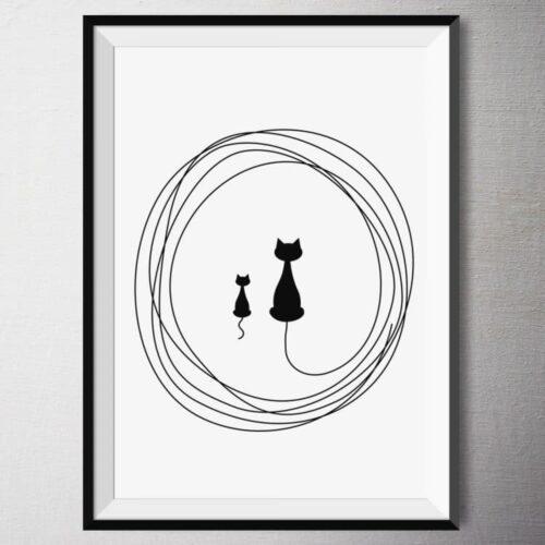 Fine Art Print - Lill und Kasimir | Fünf vor Zehn