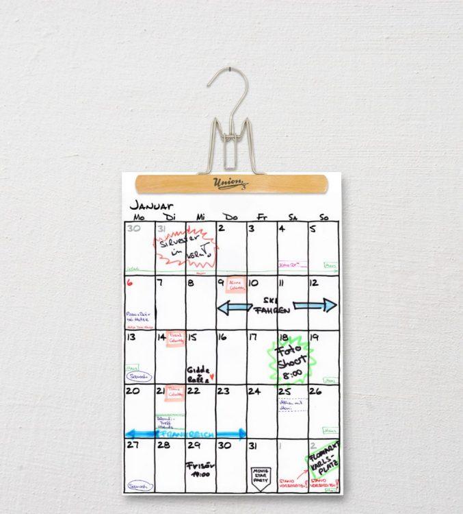 Upcycling Wandkalender