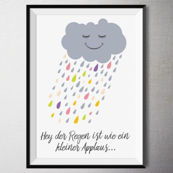 "Fine Art Print - ""Hey der Regen""   Fünf vor Zehn"