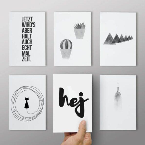 Postkarten 6er Set - Black&White