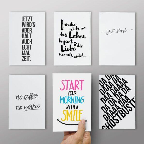 Postkarten 6er Set - Typos