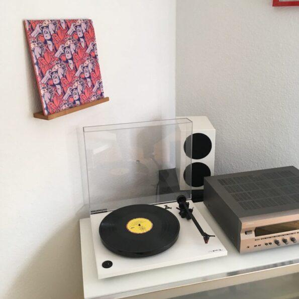 Vinyl Wandhalter - Fünf vor Zehn