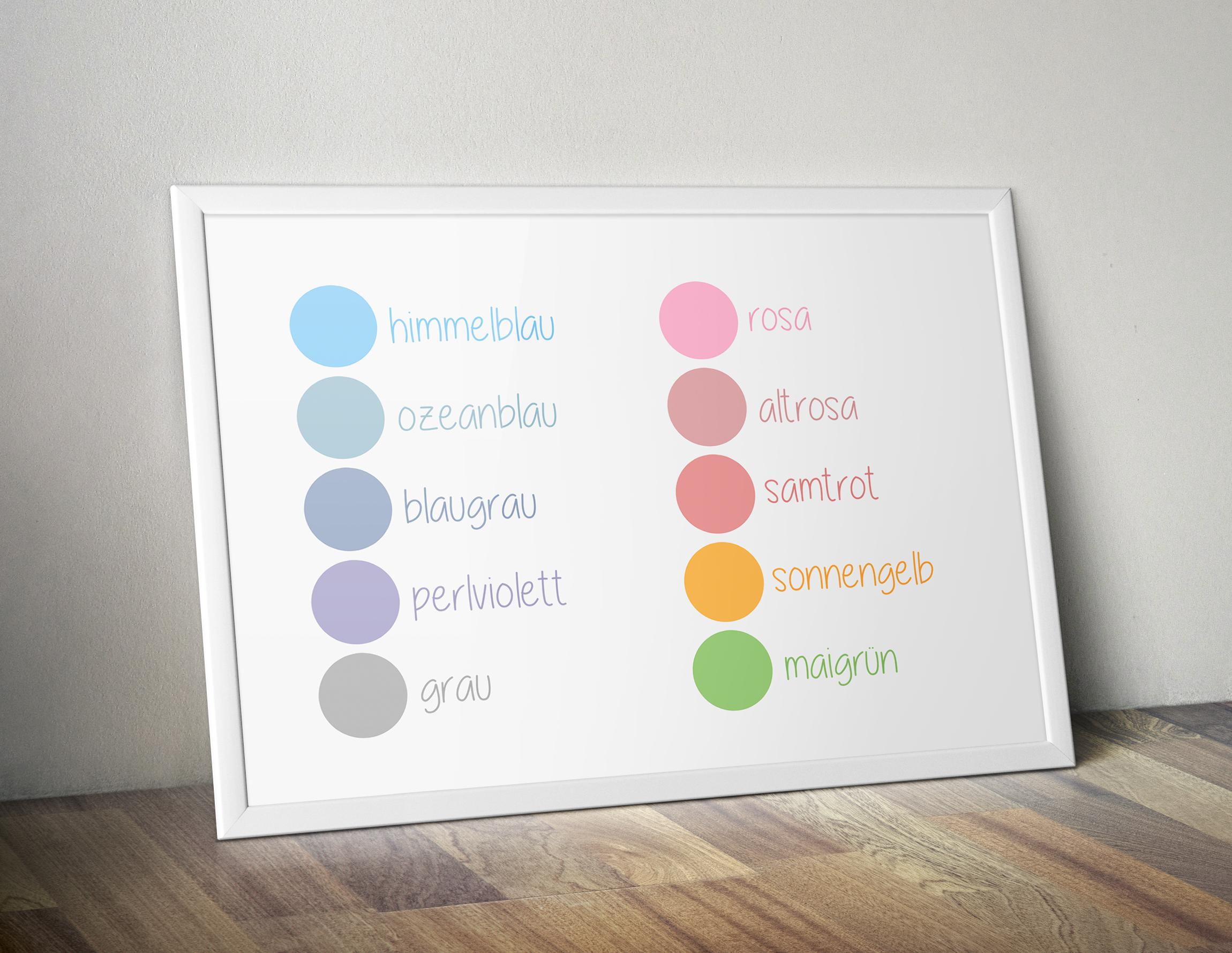Farben Familienkalender Pure