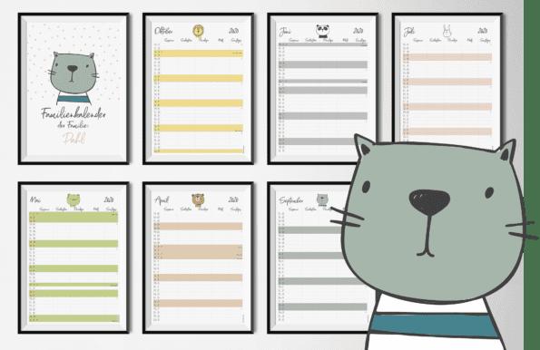 "Familenkalender DIN-A3 ""Pets"""