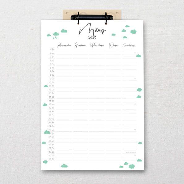 Familienkalender DIN-A3 Flux