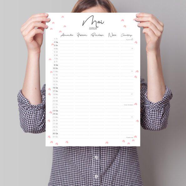 Familienkalender-Nachfüllpack DIN-A3 Flux