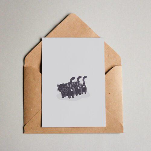 "Postkarte - ""Cats"" | Fünf vor Zehn"