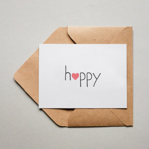 "Postkarte - ""H❤️ppy"" | Fünf vor Zehn"